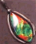 7-color ammolite pendant