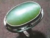 cat eye jadeite ring