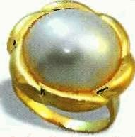pearl gold ring, price $240