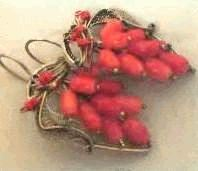 sea coral earrings