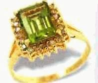 peridot diamond ring, price $175