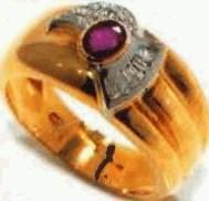 man ruby ring