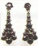 almandine earrings