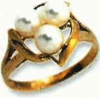 pearls ring, price $105