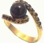 black pearl ruby ring