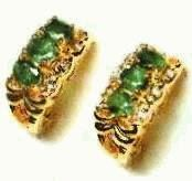 emerald earrings, price $189