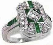 old emerald ring