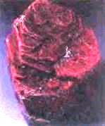 red corundum crystal
