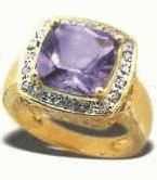 amethyst dianond ring